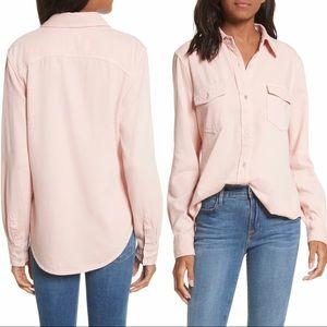 Frame Peachy Pink Lightweight Denim Button Up